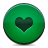 button green heart Png Icon