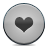 button grey heart Png Icon