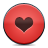 button red heart Png Icon