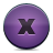 button violet close Png Icon