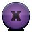 button violet close Png Icon