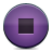 button violet stop Png Icon