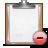 clipboard delete Png Icon