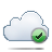 cloud check Png Icon