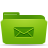 folder green mails Png Icon