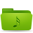 folder green music Png Icon