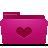 folder pink favorites Png Icon