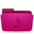 folder pink music Png Icon