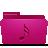 folder pink music Png Icon