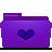 folder violet favorites Png Icon