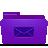 folder violet mails Png Icon