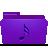 folder violet music Png Icon