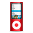 ipod nano red Png Icon