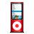 ipod nano red Png Icon