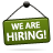 sign we are hiring Png Icon