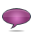 speech bubble pink Png Icon
