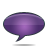 speech bubble violet Png Icon