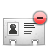 vcard delete Png Icon