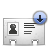 vcard download Png Icon