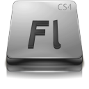Adobe Flash CS 4 Gray Png Icon