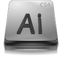 Adobe Illustrator CS 4 Gray Png Icon