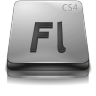 Adobe Flash CS 4 Gray large png icon