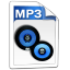 Audio MP 3 large png icon