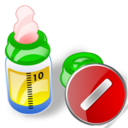 feeding bottle cancel Png Icon