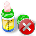 feeding bottle close Png Icon