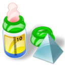 feeding bottle level Png Icon