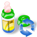 feeding bottle refresh Png Icon