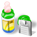 feeding bottle save Png Icon