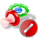 pacifier cancel Png Icon