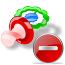 pacifier delete Png Icon