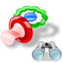 pacifier search Png Icon