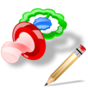 pacifier write Png Icon