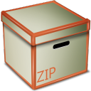 Zip Box Png Icon