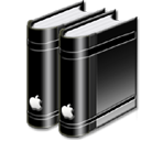 libraryblack png icon