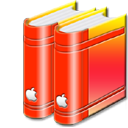 libraryred png icon