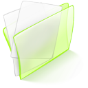 Dossier Green Papier Png Icon
