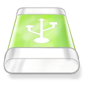 Drive Green Usb Png Icon