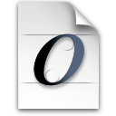 open font Png Icon