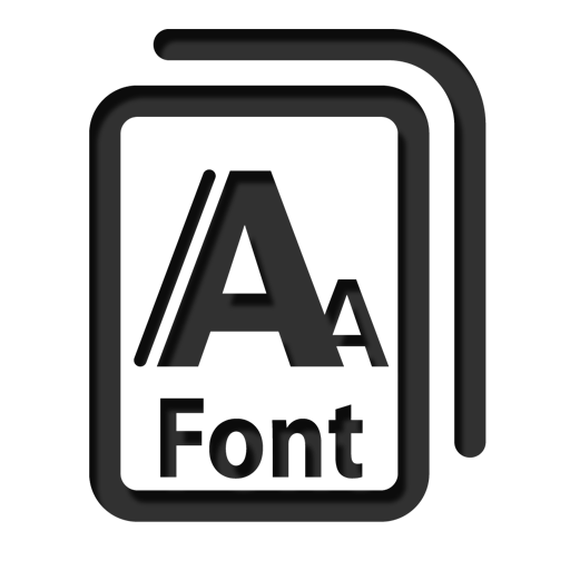 Font large png icon