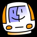 iMac Tangerine Png Icon