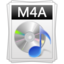 M4A large png icon