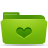 folder green favorites Png Icon