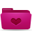 folder pink favorites Png Icon