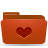 folder red favorites Png Icon