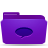 folder violet conversations Png Icon