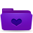 folder violet favorites Png Icon